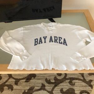 Brandy Melville Long Sleeve Thermal Bay Area Shirt